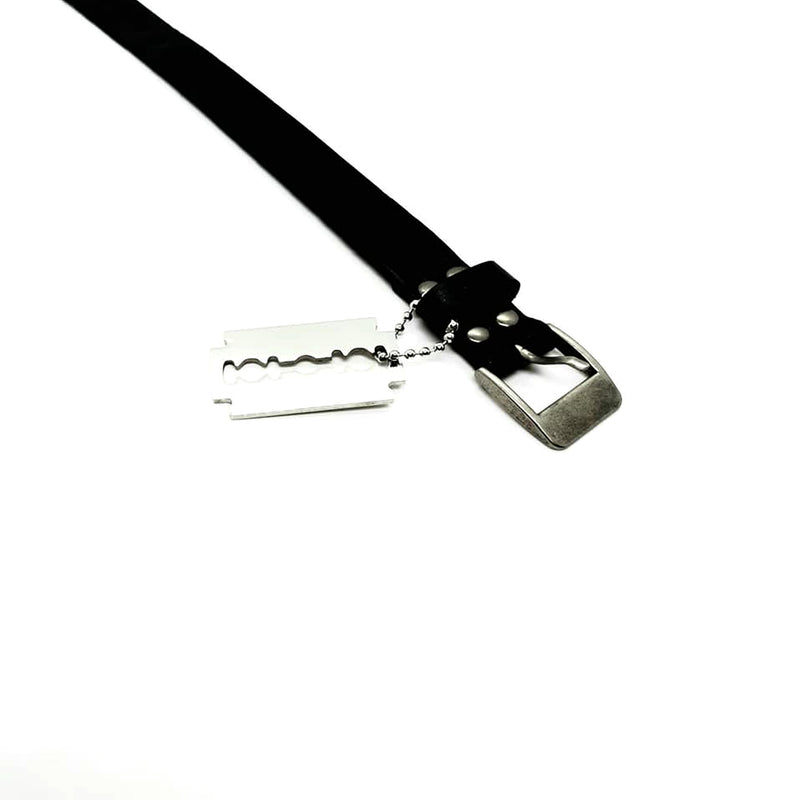 Leather Bracelet with Razor Blade - SuperLdN