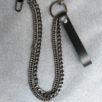 Double Key Chain with Leather Strap - superldn