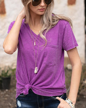 Load image into Gallery viewer, Burnout Perfect Pocket Tee - ALL SALES FINAL - Adaline Rae Boutique