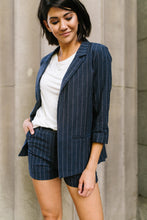 Load image into Gallery viewer, Business Casual Pinstriped Shorts - Adaline Rae Boutique