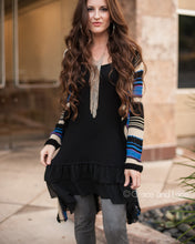 Load image into Gallery viewer, Black Chiffon High-Low Extender - ALL SALES FINAL - Adaline Rae Boutique