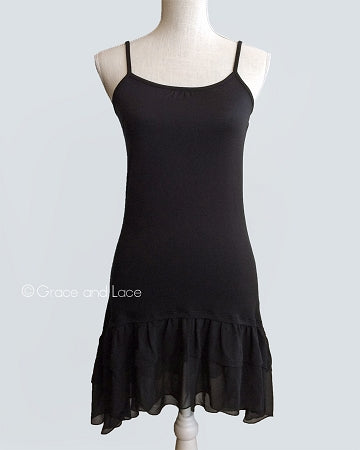 Black Chiffon High-Low Extender - ALL SALES FINAL - Adaline Rae Boutique