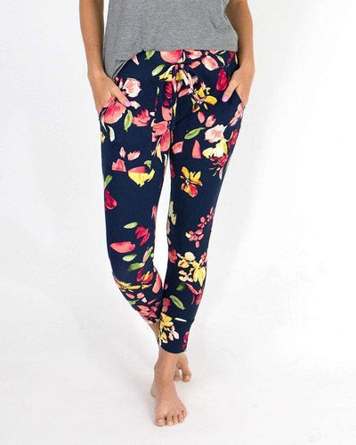 Floral Summer Weight Cropped Live-in Loungers