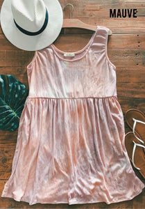 Babydoll Tie Dye Dress