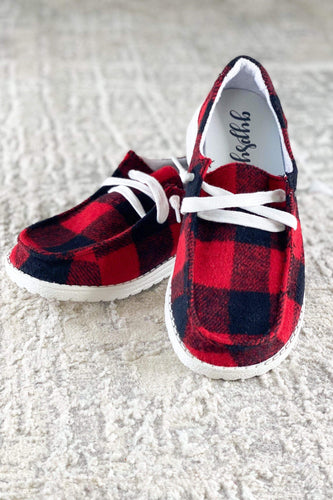 Shoes Very G Heather Sneaker in Red Plaid