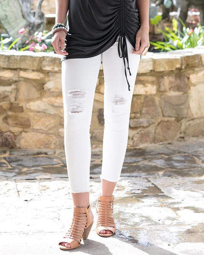 Womens X-Small White Zip Up Cropped Jeggings