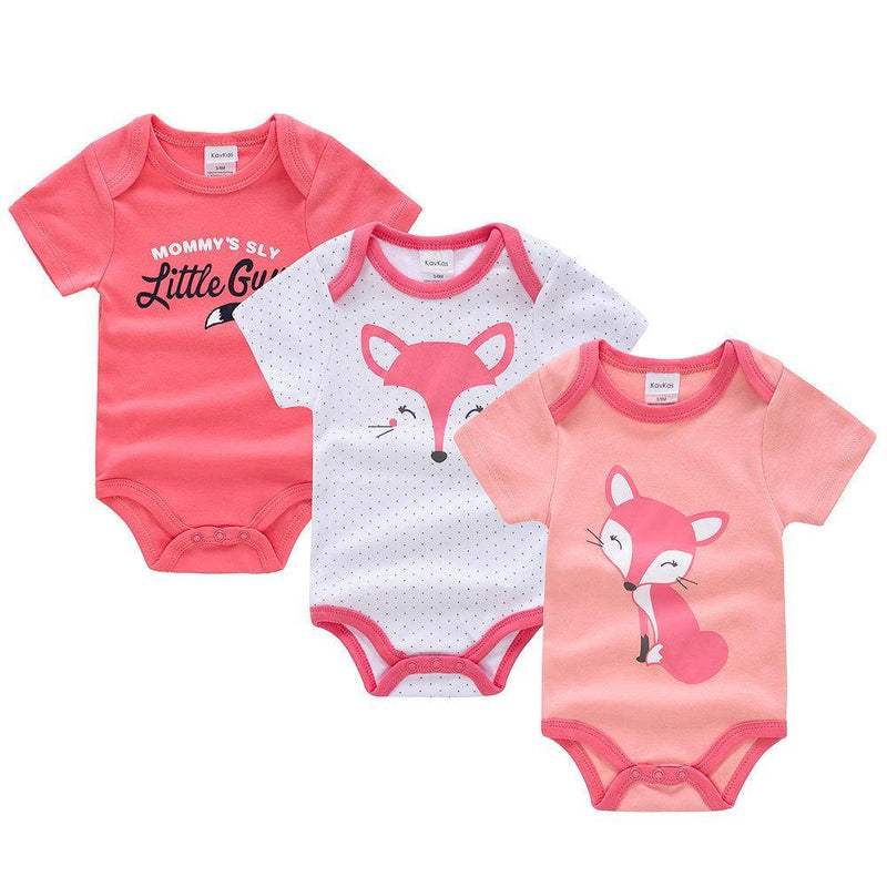 Cute Fox Three-piece Baby Suit - SmartDiaperBag