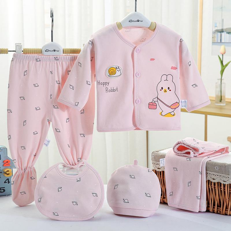 Happy Rabbit Newborn Baby Five-piece Set - SmartDiaperBag