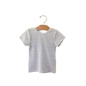 Fitted Top - Grey Stripe