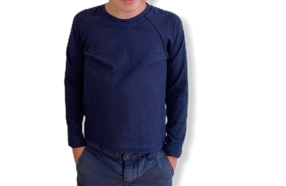 Long Sleeve Raglan - Navy
