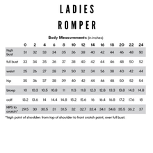 Load image into Gallery viewer, Ladies Romper