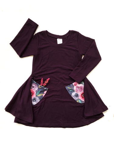 Twirl Dress - Plum