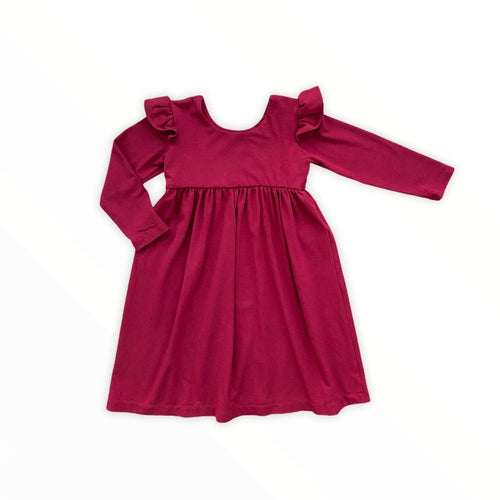 Mini Niagra with Flutter Sleeve - Scarlet