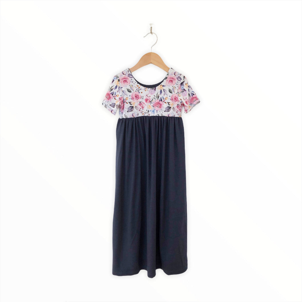 Mini Maxi Dress - Dainty Floral/Navy
