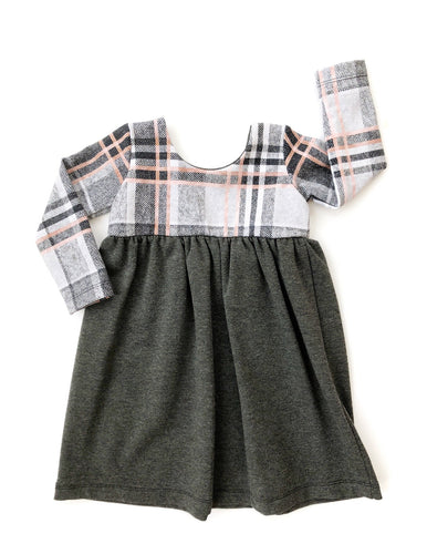 Luxe Dress - Rose Gold Plaid