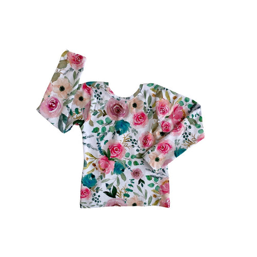 Fitted Top - Blush Floral