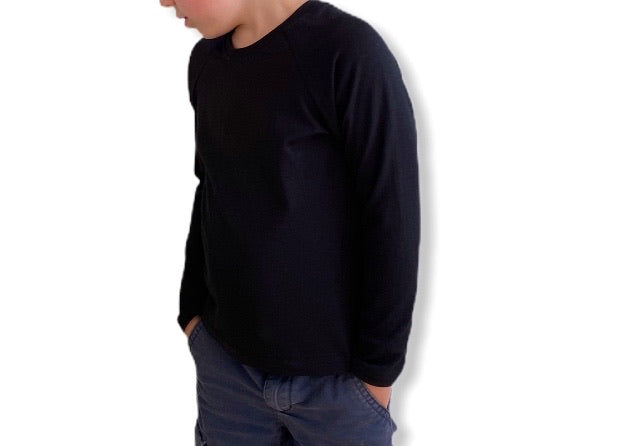 Long Sleeve Raglan - Black