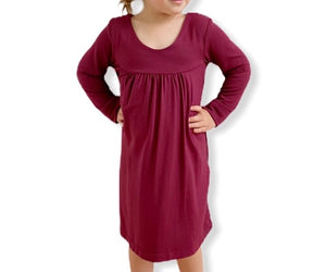 Mini Niagra Dress - Bordeaux