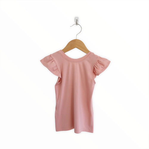 Flutter Fitted Top - Ash Rose