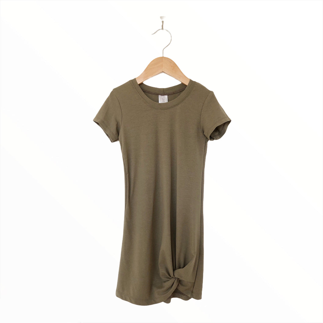 Ladies Knotted Dress - Olive