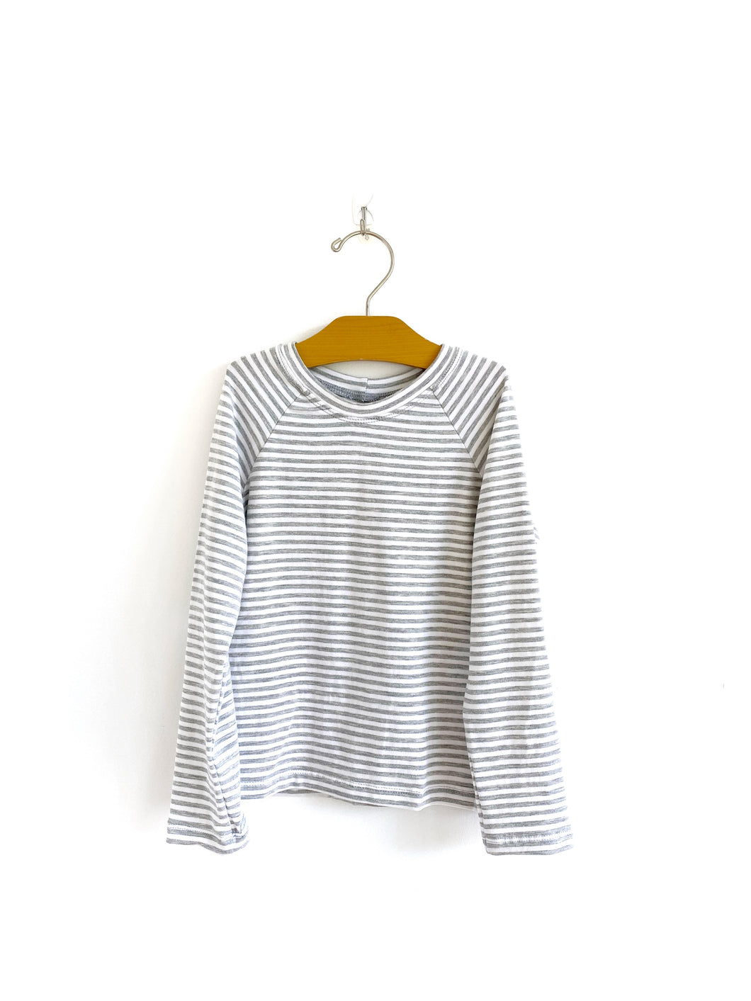 Long Sleeve Raglan - Grey Stripe