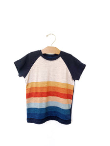 Raglan Tee - Sunset Stripe
