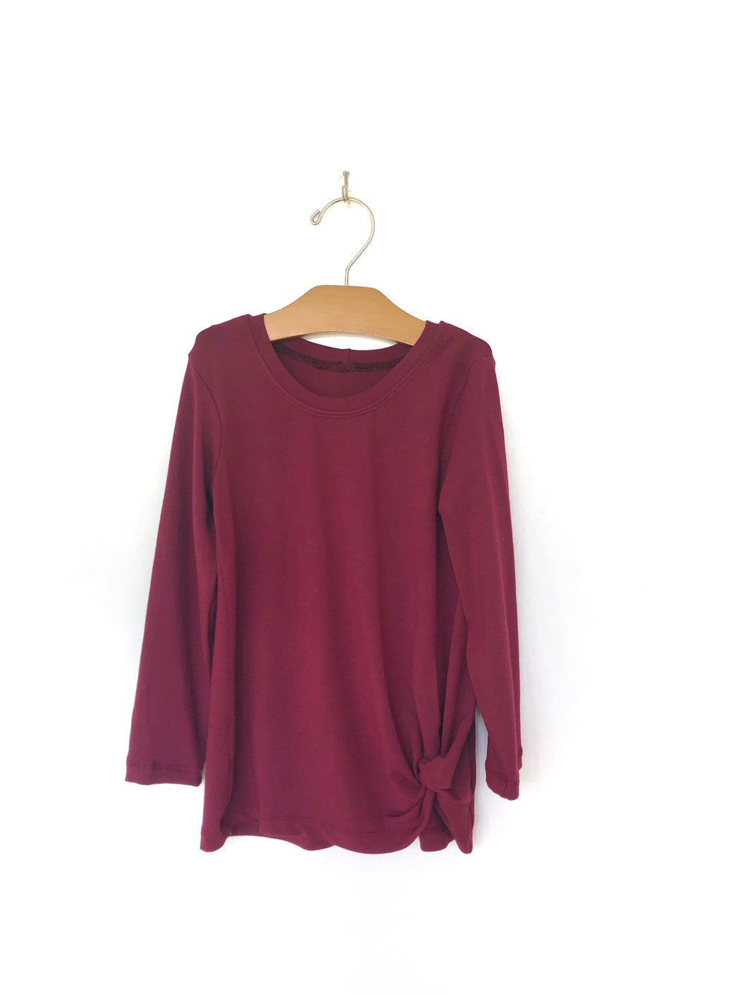 Mini Knotted Tee - Bordeaux
