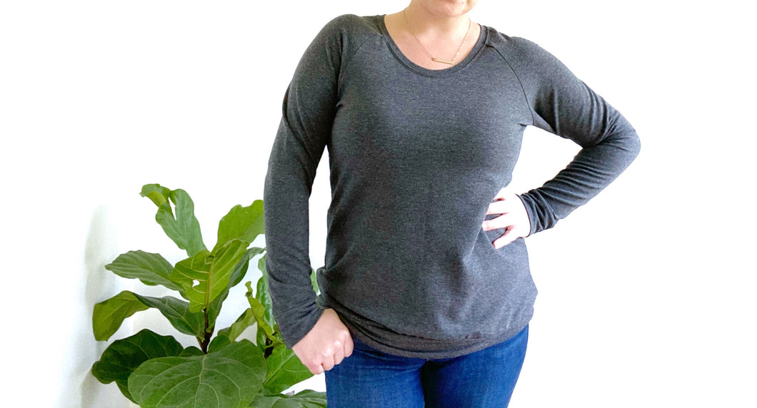 Ladies Pullover - Charcoal