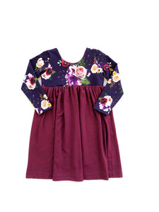 Luxe Dress - Plum Floral