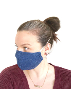 ADULT Shaped Mask - Denim Look - Ready to Ship