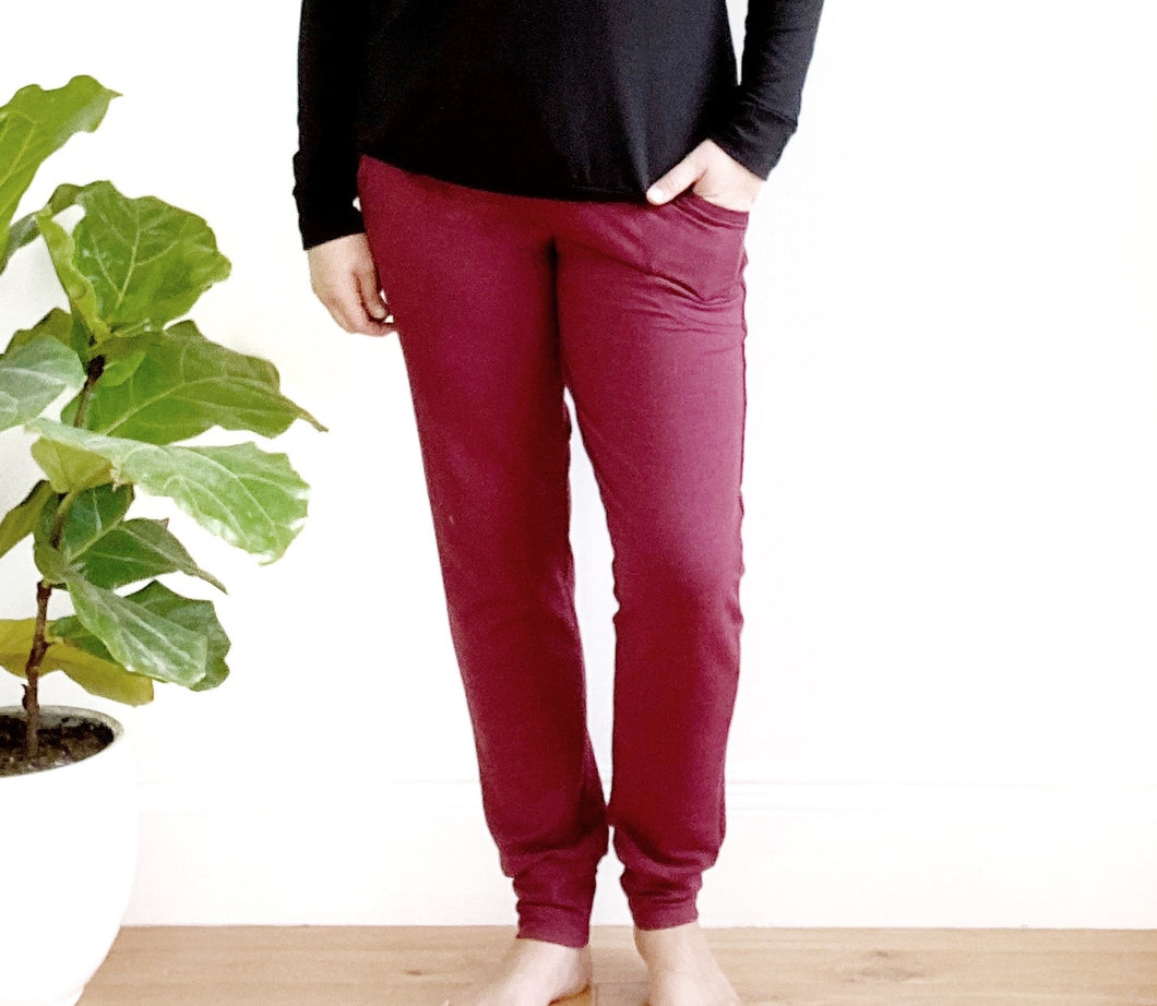 Ladies Joggers - Bordeaux