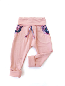 Grow Joggers - Mellow Rose/Charcoal Floral