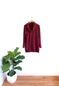 Ladies Cowl Sweater - Bordeaux