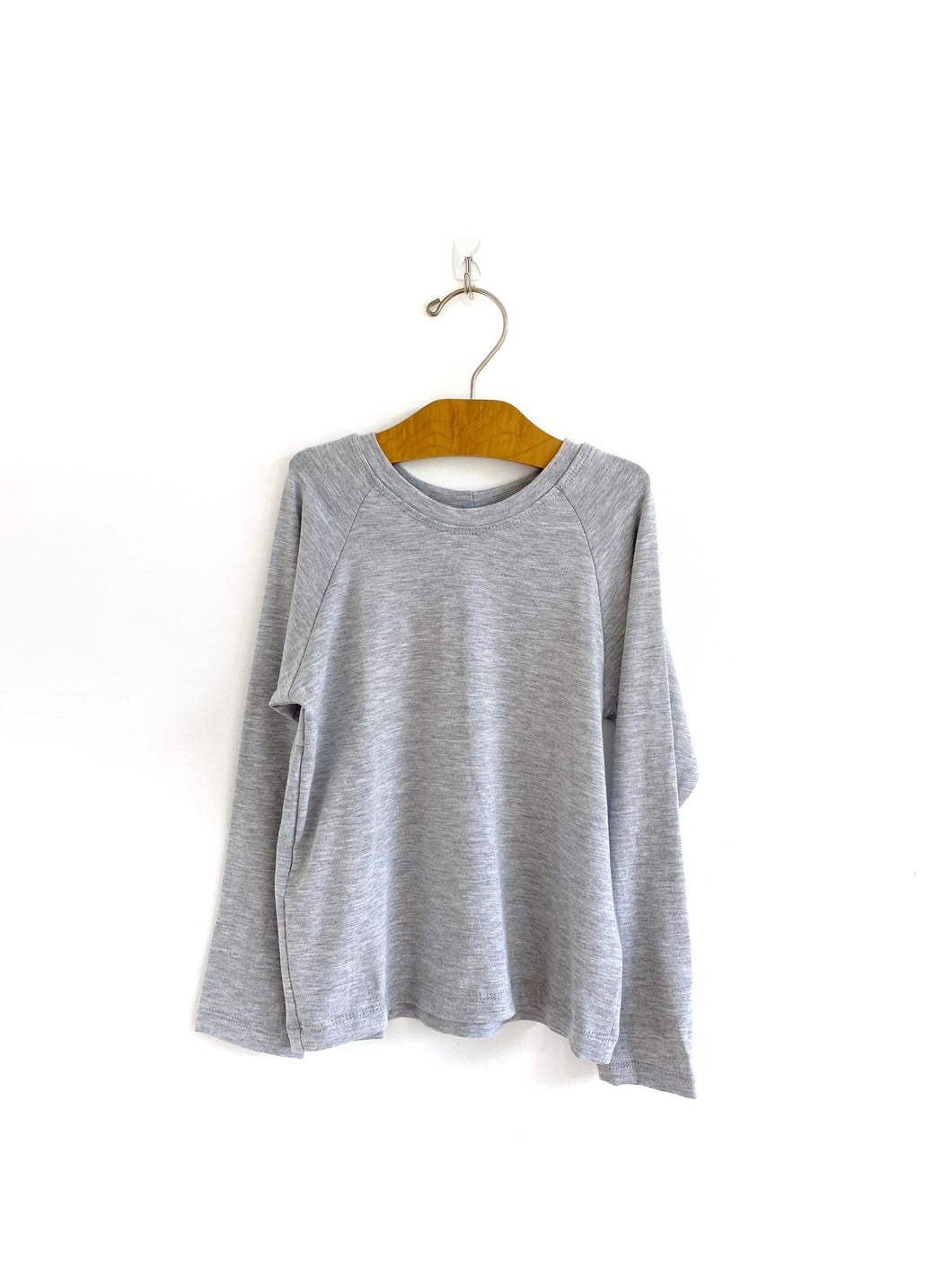 Long Sleeve Raglan - Grey