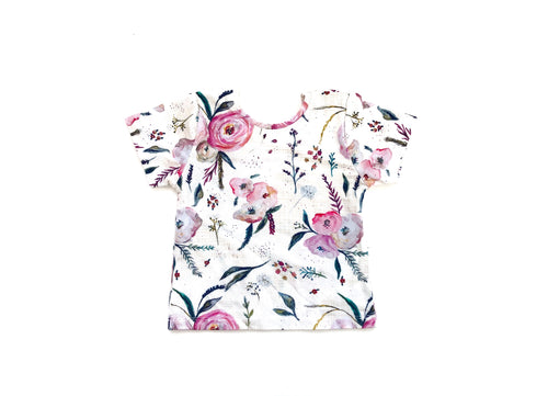 Fitted Top - Mulberry Floral