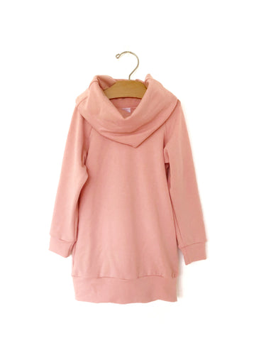 Ladies Cowl Sweater - Mellow Rose