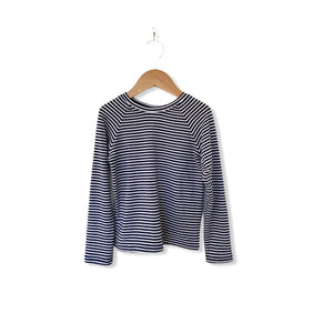 Long Sleeve Raglan - Navy Stripe