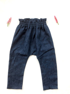 Bag Waist Pants - Denim