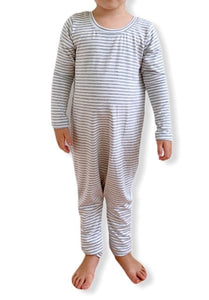 Long Sleeve Coverall - Grey stripe