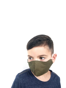 CHILD Shaped Mask - Olive