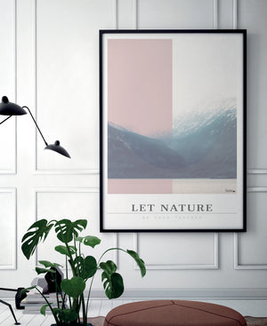 Grafisk billede plakat - Let nature be your teacher