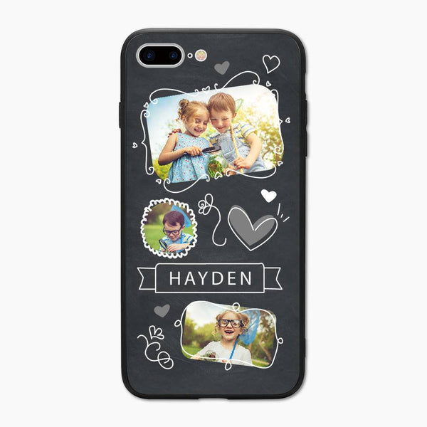 Personalisierte Kinder Foto Collage iPhone Handyhülle - mit Namen