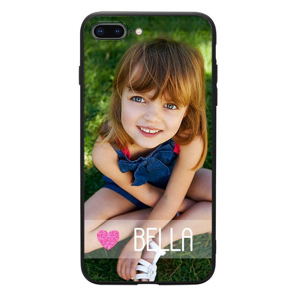 Personalisierte Name iPhone Handyhülle - Rosa Liebe