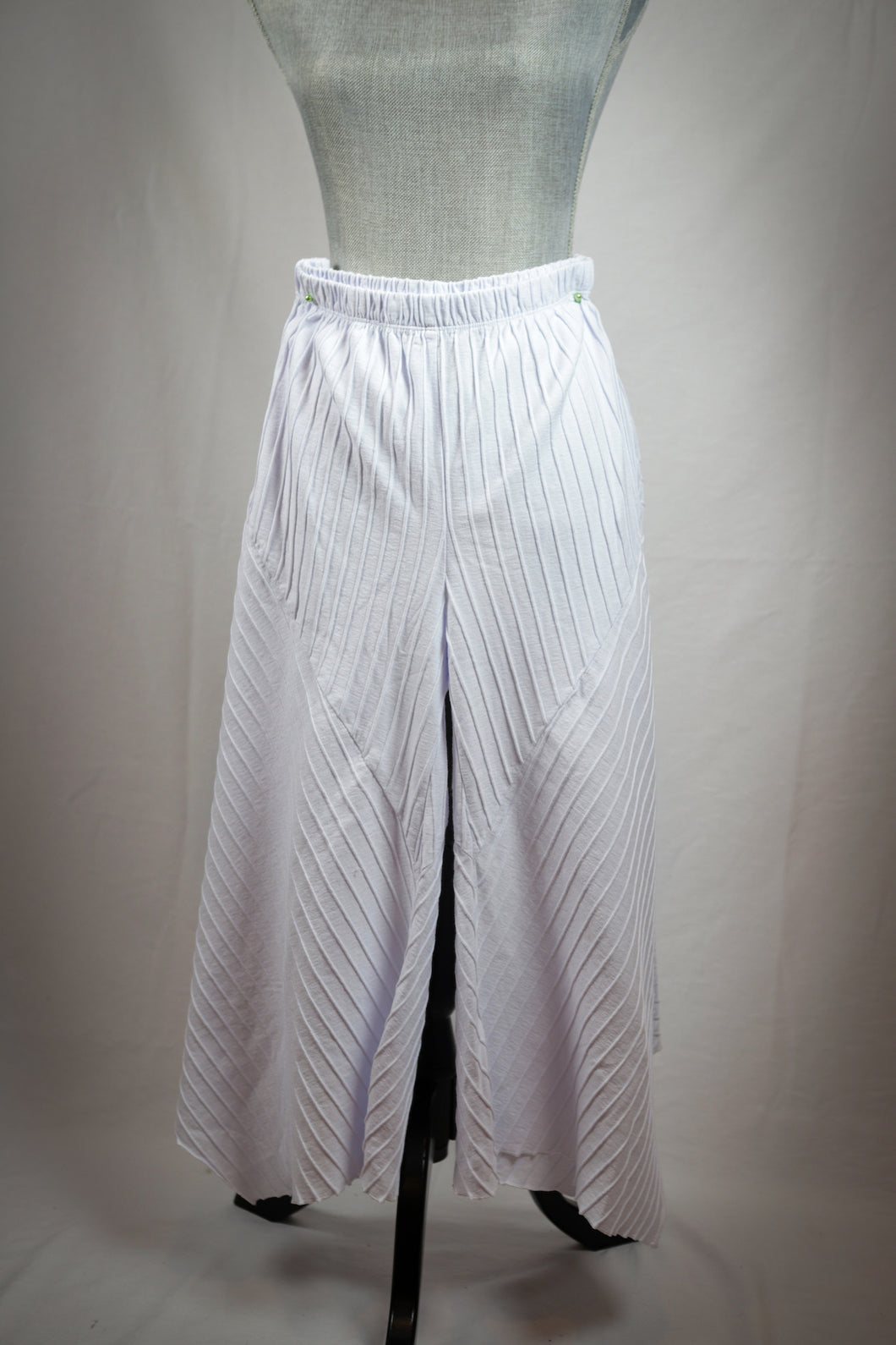 Ribbed Jersey Cotton Gaucho Pants