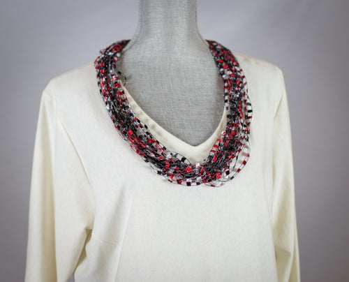 Traditional Ribbon Scarf - Necklace