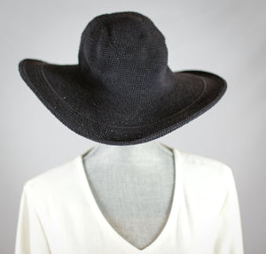 Crochet Wide Brim Hat