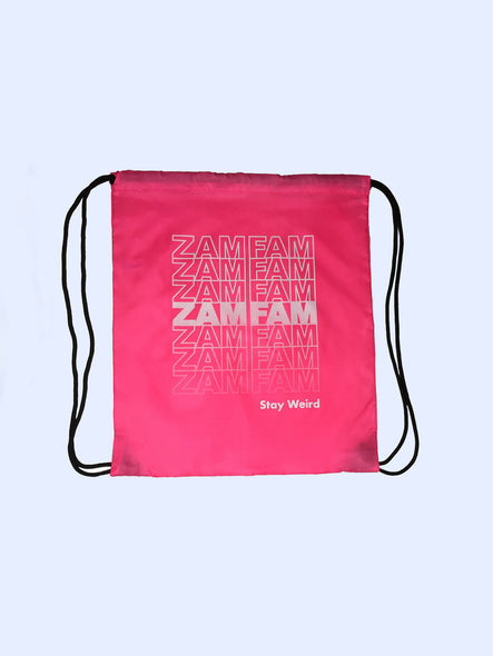 Zamfam Stay Weird Neon Pink Adventure Bag