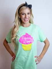 Limited Teal Sparkle Cupcake Tee