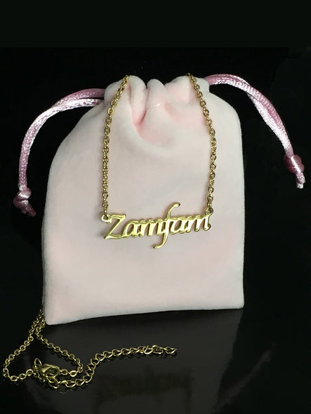 ZAMFAM Gold Keepsake Necklace