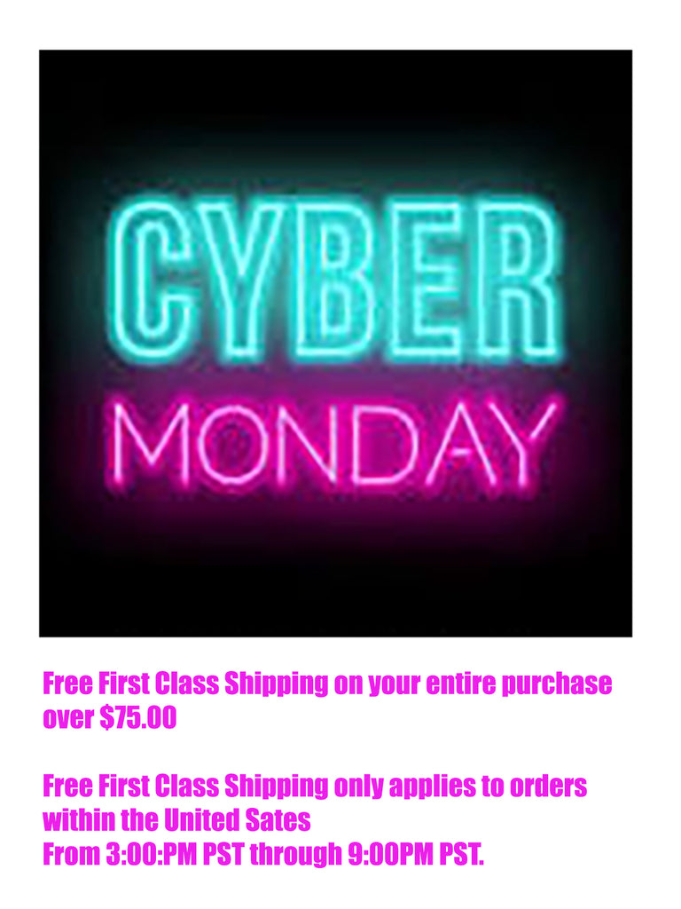 Free First Class Shipping with orders over $75.00  US orders only.